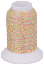 Overlock Bauschgarn multicolor (gelb-blau-rosa)