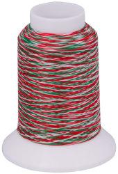 Overlock Bauschgarn multicolor (grün-rot-weiß)