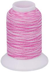 Overlock Bauschgarn multicolor (rosa-weiß)
