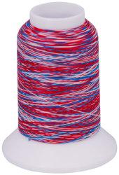 Overlock Bauschgarn multicolor (rot-blau-weiß)
